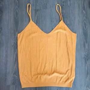 Copper Ribbed Anthropologie Tank